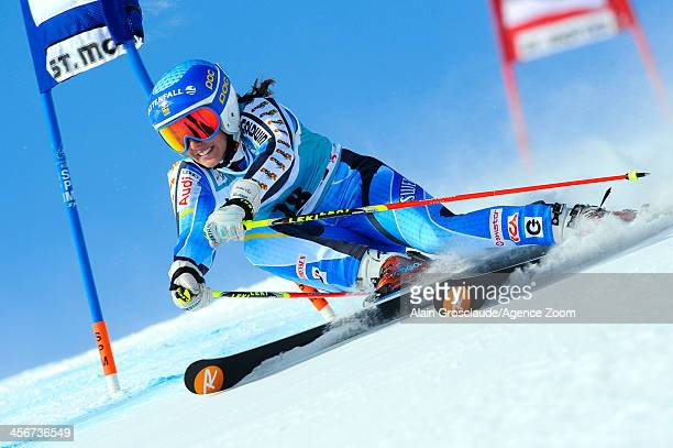 Maria PietilaeHolmner of Sweden competes during the Audi FIS Alpine Ski World Cup Women's Giant Slalom on December 15 2013 in St Moritz Switzerland
