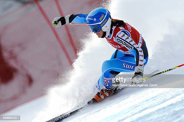 Maria PietilaeHolmner of Sweden takes 3rd place during the Audi FIS Alpine Ski World Cup Women's Giant Slalom on December 22 2013 in Val d'Isere...