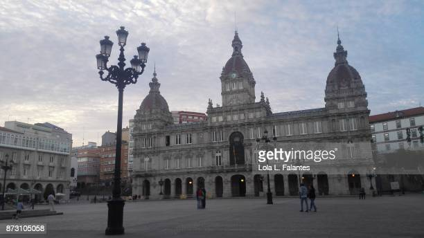 Maria Pita square and cityhall. A Coruña cityscape