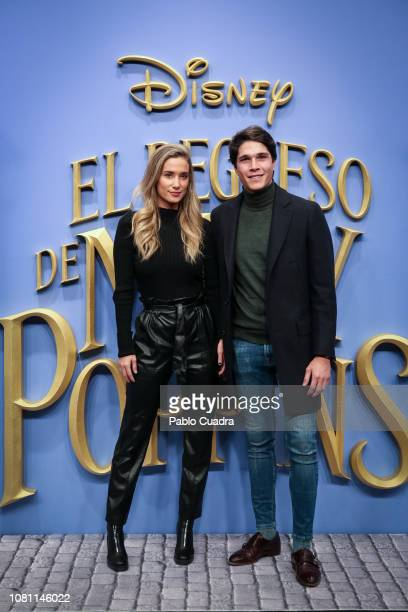 Maria Pombo and Pablo Castellano attend attends 'El Regreso de Mary Poppins' premiere at Kinelpolis cinema on December 11 2018 in Madrid Spain