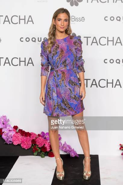 Maria Pombo attends 'Tacha Beauty 25th Anniversary' photocall at Santa Coloma Palace on October 10 2019 in Madrid Spain