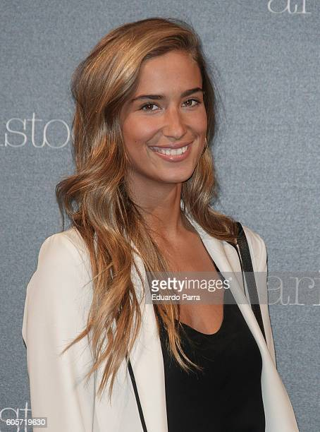 Maria Pombo attends the Aristocrazy fashion show photocall at Chamartin train station on September 14 2016 in Madrid Spain