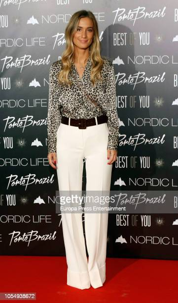 Maria Pombo attends the presentation of Nordic Life Water on October 26, 2018 in Madrid, Spain.