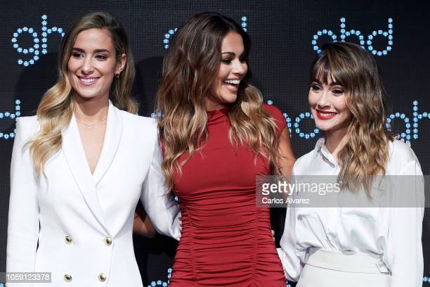 Maria Pombo Lara Alvarez and Aitana present 'Lara Vida a las Reinas' new GHD christmas campaign at Espacio Harley on November 8 2018 in Madrid Spain