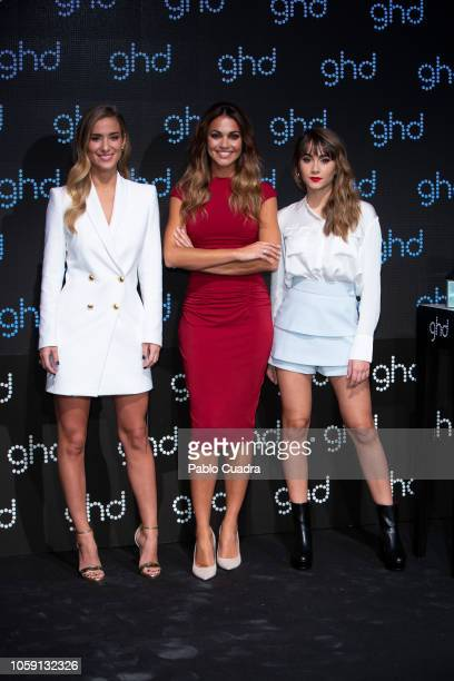 Maria Pombo Lara Alvarez and Aitana present 'Larga Vida a las Reinas' new GHD christmas campaign at Espacio Harley on November 8 2018 in Madrid Spain