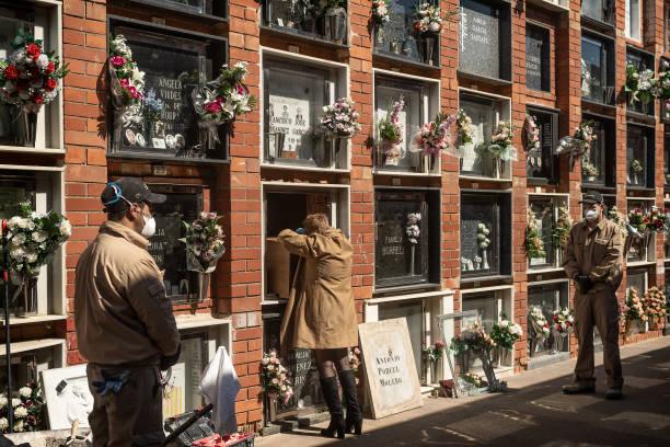 ESP: Funeral Held For Coronavirus Victim In El Prat