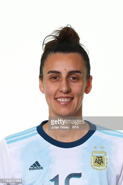 Maria Potassa of Argentina poses for a portrait during the official FIFA Women's World Cup 2019 portrait session at Melia Paris La Defense on June...