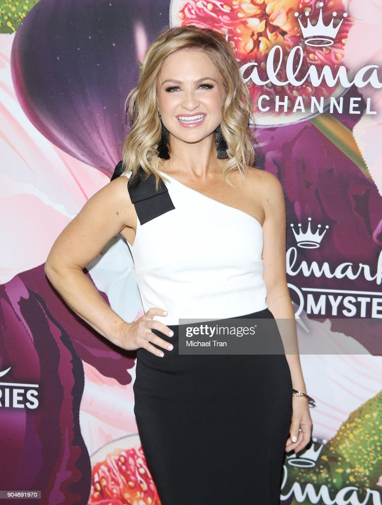 Maria Provenzano arrives to the Hallmark Channel and Hallmark Movies and Mysteries Winter 2018 TCA Press Tour held at Tournament House on January 13, 2018 in Pasadena, California.