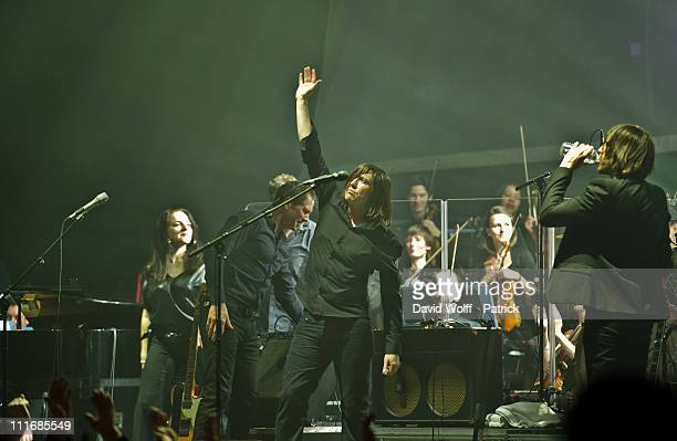 Maria Q Steve Harris Pollard Berrier and Dave Pen performs at Le Grand Rex on April 5 2011 in Paris France