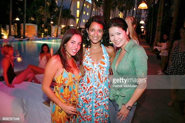 Maria Quiroz Alexis Rodriguez and Yumi Yazawa attend Launch of Diane von Furstenberg Soleil Swim and Beach Collection at The Delano on July 13 2007