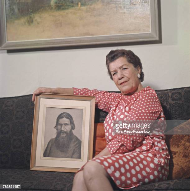 Maria Rasputin pictured holding a portrait of her father Grigori Rasputin in 1972 Maria Rasputin left Russia in 1920 and became a US citizen and...