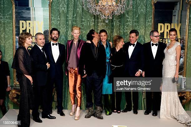 Maria Reig, Elie Saab, Tony Ward, Tilda Swinton, Haider Ackermann, Elisa Sednaoui, Joana Bonet, Angel Schlesser, Irina Shayk attend Marie Claire Prix...