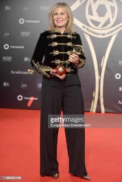 Maria Rey attends 'Iris Academia de Television' awards at Nuevo Teatro Alcala on November 18 2019 in Madrid Spain