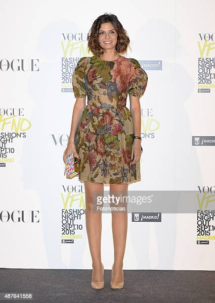 Maria Reyes attends the Vogue Fashion Night Out Madrid 2015 photocall at the Vogue VIP Tent on September 10 2015 in Madrid Spain