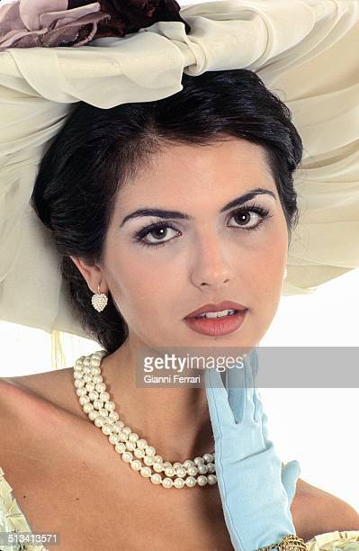 "Maria Reyes Miss Spain 1995 on a photo shoot like ""Sissi"" 23rd November 1995 Madrid Spain"