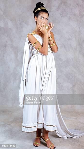 "Maria Reyes Miss Spain 1995 on a photo shoot like ""Venus"" 23rd November 1995 Madrid Spain"