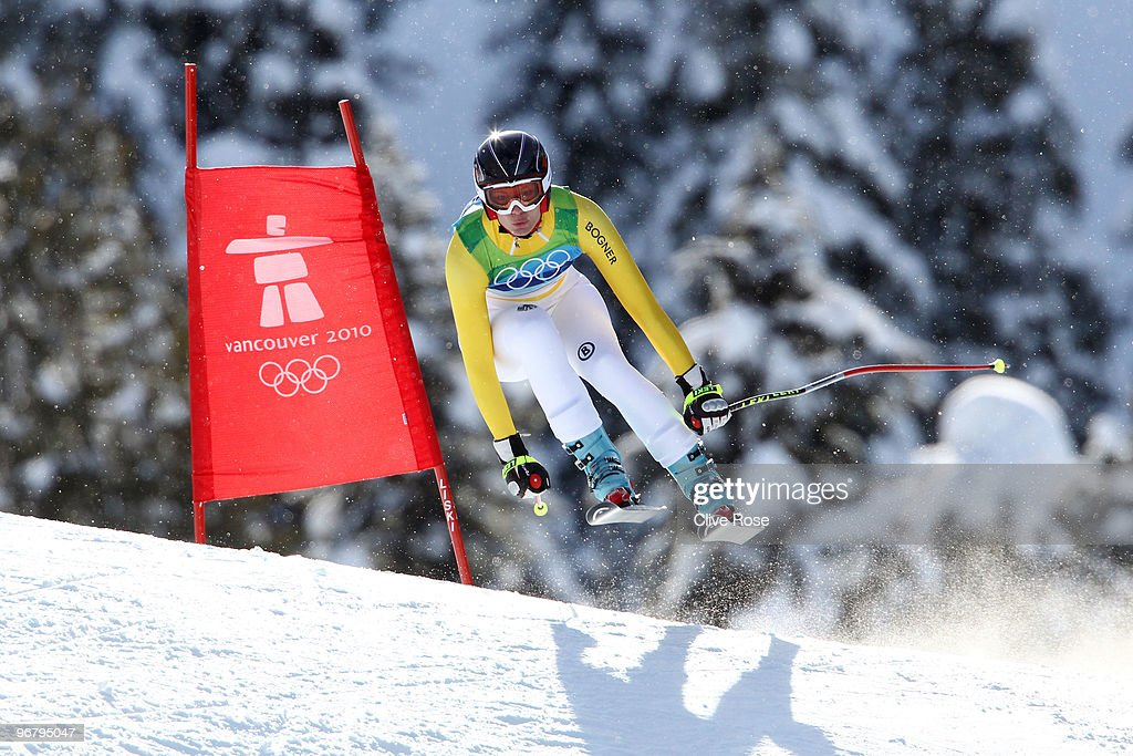 Maria Riesch of Germany competes during the Alpine Skiing Ladies Downhill on day 6 of the Vancouver 2010 Winter Olympics at Whistler Creekside on February 17, 2010 in Whistler, Canada.