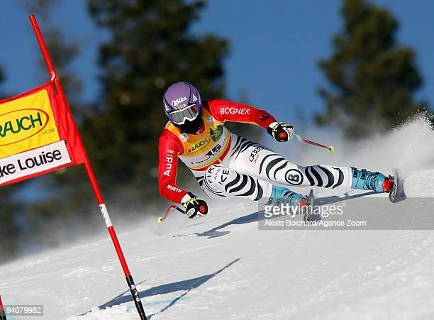 Maria Riesch of Germany skis during the Audi FIS Alpine Ski World Cup Women's SuperG on December 6 2009 in Lake Louise Alberta Canada
