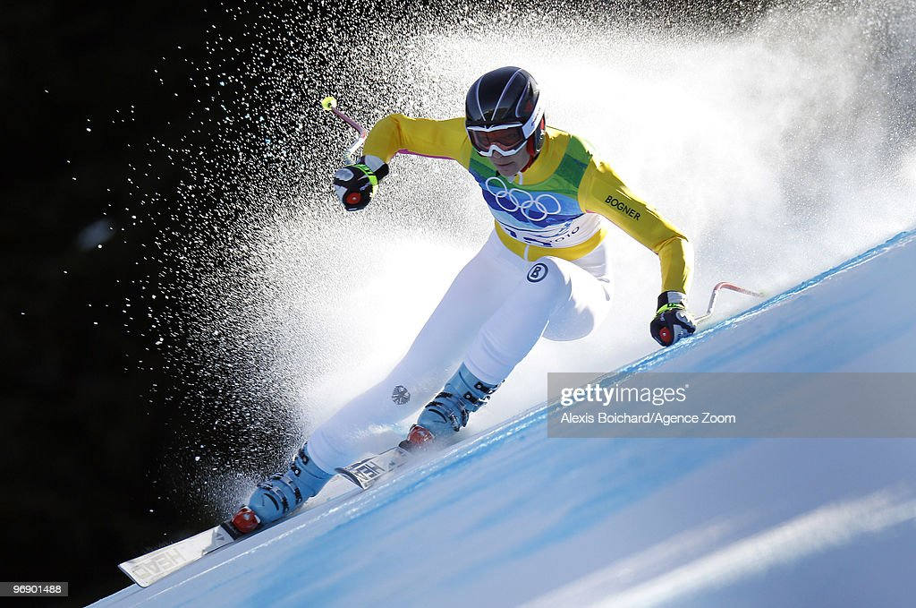 Maria Riesch of Germany skis during the Women's Alpine Skiing Super-G on Day 9 of the 2010 Vancouver Winter Olympic Games on February 20, 2010 in Whistler Creekside, Canada.