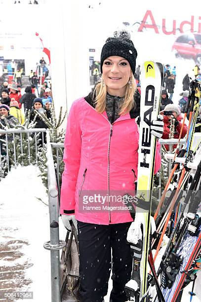 Maria RieschHoefl during the Hahnenkamm race on January 23 2016 in Kitzbuehel Austria