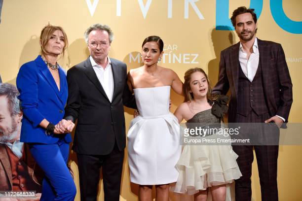 Maria Ripoll Oscar Martinez Inma Cuesta Mafalda Carbonell and Nacho Lopez attend 'Vivir dos veces' premiere at Cinemas Capitol on September 05 2019...