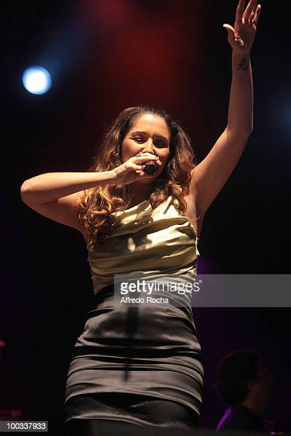 Maria Rita performs on Day 2 at Rock In Rio on May 22 2010 in Lisbon Portugal