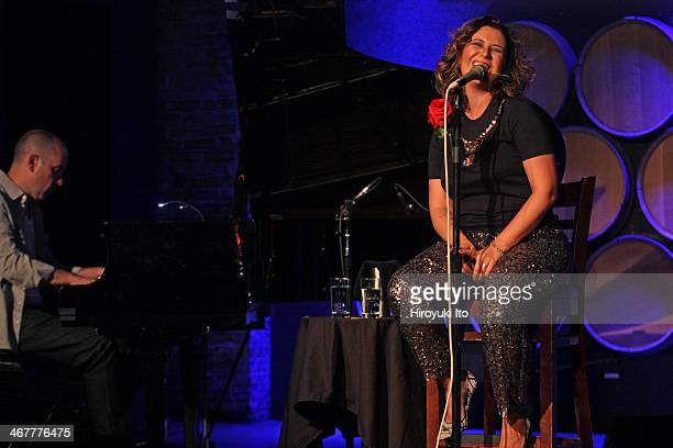 Maria Rita with Tiago Costa performing at City Winery on Sunday night February 2 2014