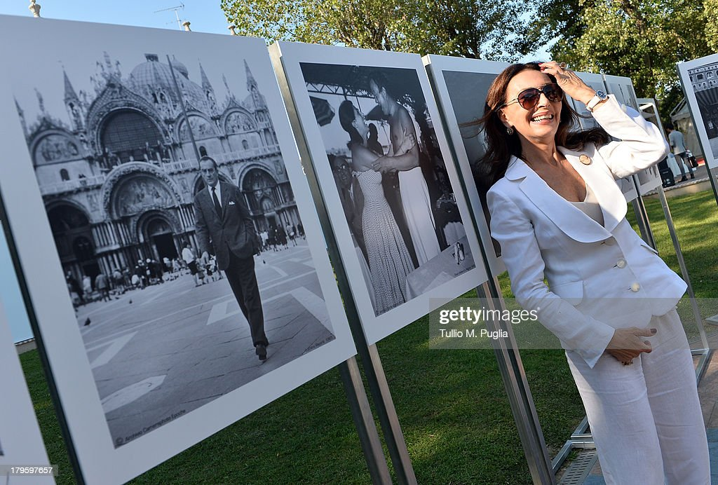 Maria Rosaria Omaggio attends the 'Venti di 300.000' photo exhibition during the 70th Venice International Film Festival at Terrazza Maserati on September 5, 2013 in Venice, Italy.