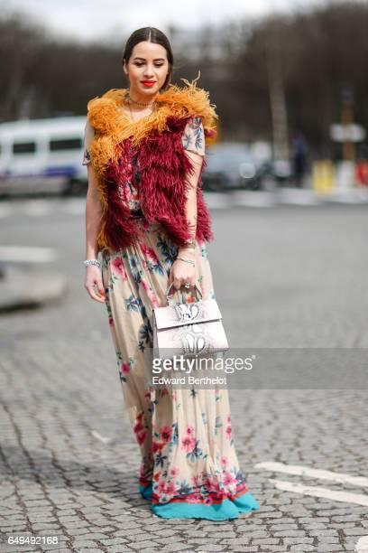 Maria Rosaria Rizzo fashion blogger from La Coquette Italienne wears a Gianfranco Lotti snake print bag Aperlai shoes a Mariella Rosati flower print...