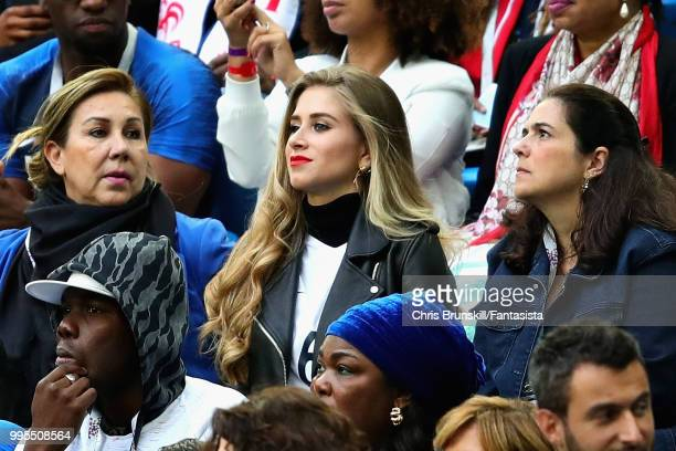 Maria Salaues girlfriend of Paul Pogba of France attends the 2018 FIFA World Cup Russia Semi Final match between Belgium and France at Saint...