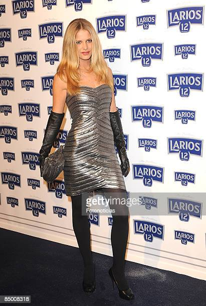 Maria San Juan arrives at Larios Calendar launch party at Price Circus on February 23 2009 in Madrid Spain
