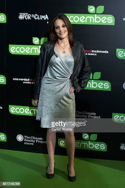 Maria Sanz attends 'An Inconvenient Sequel Truth to Power' premiere at the Callao cinema on October 3 2017 in Madrid Spain