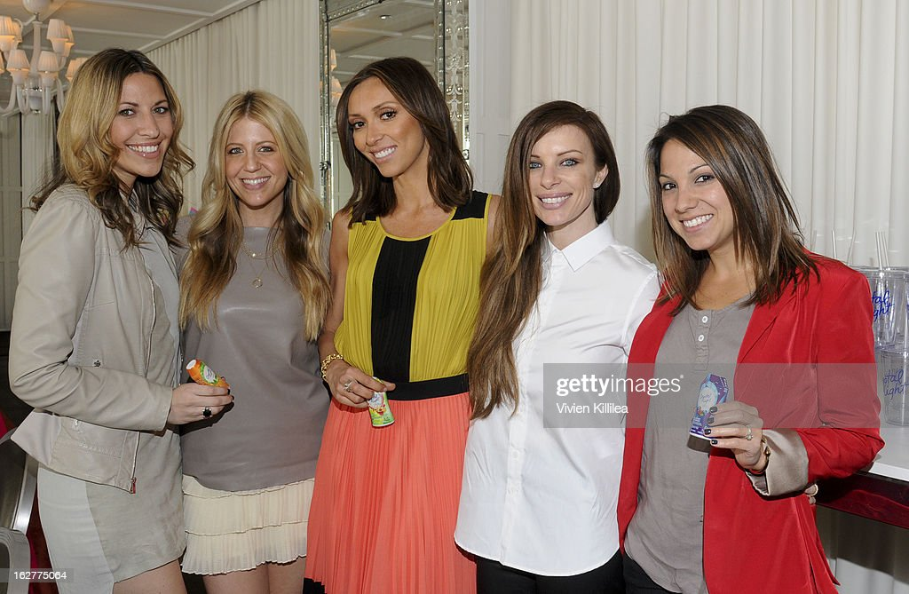 Maria Sass, stylist Lindsay Albanese, style icon Giuliana Rancic, stylist Joey Tierney and founder of Simply Stylist Sarah Pollock Boyd attends Giuliana Rancic And Crystal Light Liquid Toast Red Carpet Style at SLS Hotel on February 26, 2013 in Los Angeles, California.