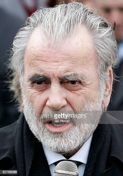 Maria Schell's brother Carl Schell attends the funeral of actress Maria Schell at the Nikolaus church on April 30 2005 in Preitenegg Austria The...