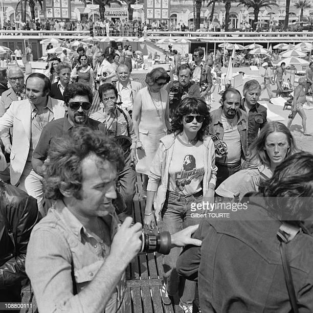 Maria Schneider at Cannes Film Festival in 1975