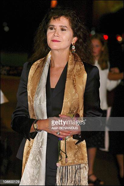 Maria Schneider during a tribute to producer Daniel Toscan du Plantier and a dinner at the Royal Palace at the third Marrakech film festival