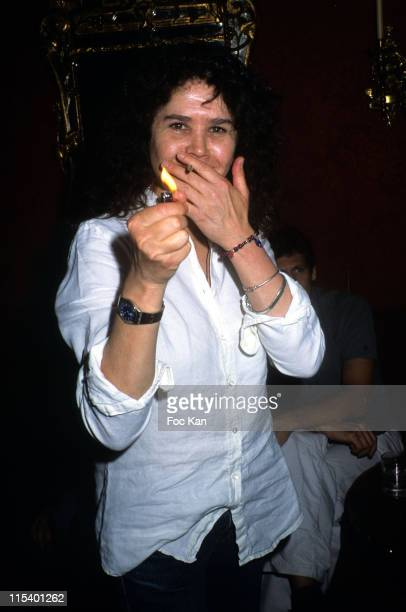 Maria Schneider during Fiona Gelin's Birthday Party June 22 2005 at Castel Club in Paris France