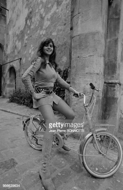 Maria Schneider lors du tournage du film 'Madly' en septembre 1970 France