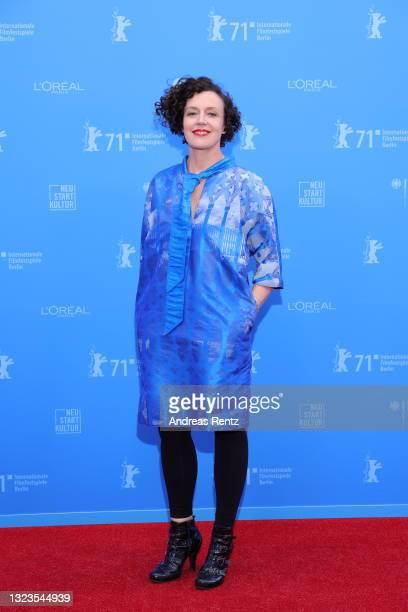 "Maria Schrader attends the European Shooting Stars Awards and ""Ich bin dein Mensch"" premiere during the 71st Berlinale International Film Festival..."