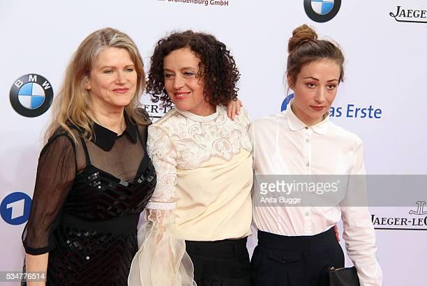 MAria Schrader Barabara Sukowa and Aenne Schwarz attend the Lola German Film Award on May 27 2016 in Berlin Germany