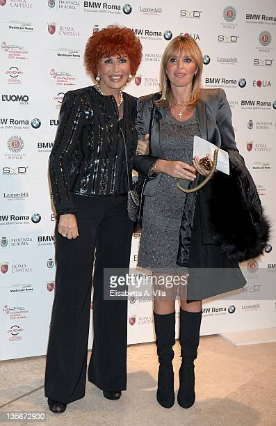 Maria Scicolone and her daughter Alessandra Mussolini attend 'Carlo Ponti Tribute Le Musiche Dei Suoi Film' at Auditorium Parco Della Musica on...