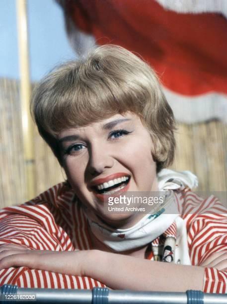 Maria Sebaldt deutsche Schauspielerin Deutschland Ende 1950er Jahre German actress Maria Sebaldt Germany late 1950s