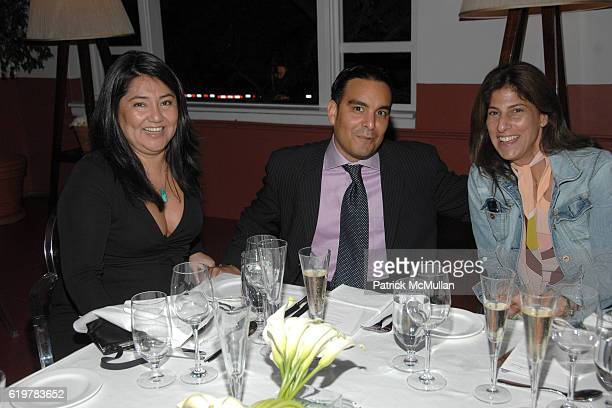 Maria Sepulveda Jason Acosta and Kris Fuchs attend VIP Dinner and Cocktails hosted by NADJA SWAROVSKI celebrating The CRYSTAL PALACE Exhibition at...