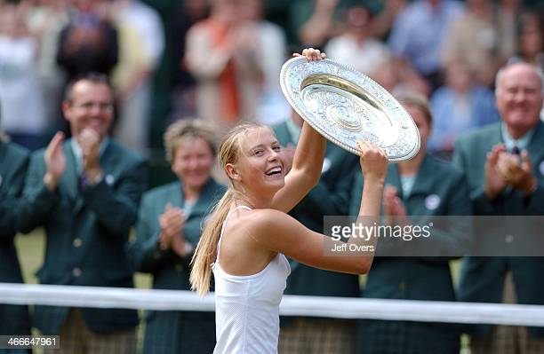 Maria Sharapova, 17 year old Russian from Siberia who won the womens singles championship at Wimbledon 2004..
