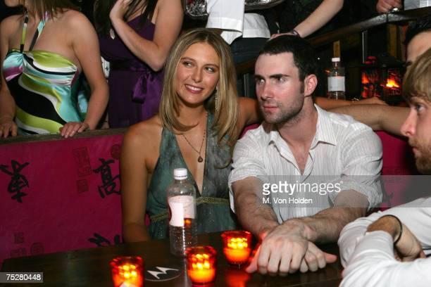 Maria Sharapova Adam Levine Maroon 5