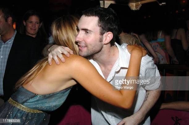 Maria Sharapova and Adam Levine of Maroon 5 during Maria Sharapova's 18th Birthday Party Sponsored by Motorola at Hiro Ballroom in New York City New...