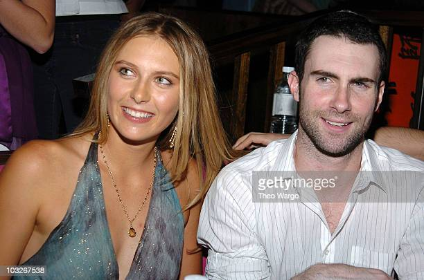 Maria Sharapova and Adam Levine of Maroon 5