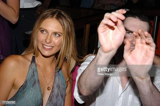 Maria Sharapova and Adam Levine of Maroon 5