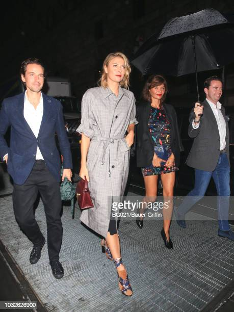 Maria Sharapova and Alexander Gilkes are seen arriving at the Vanity Fair's BestDressed 2018 in the Financial District on September 12 2018 in New...