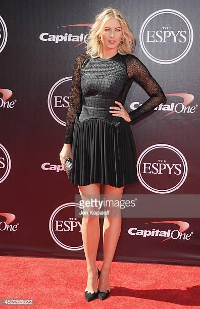 Maria Sharapova arrives at the 2014 ESPYS at Nokia Theatre LA Live on July 16 2014 in Los Angeles California